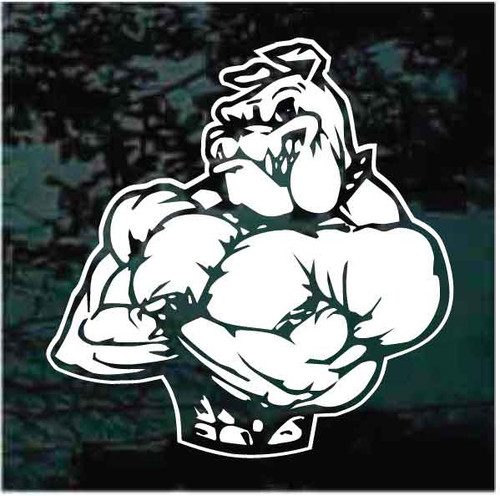 Muscle Bulldog Window Decals