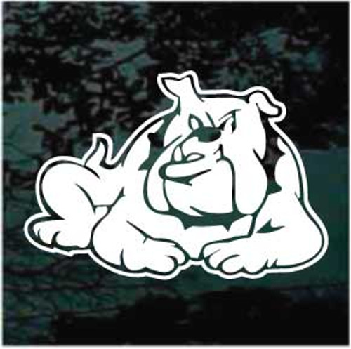 Bulldog Down Window Decal