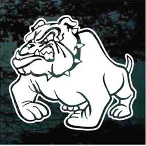 Tough Bulldog Head Growling Decals Stickers
