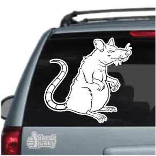 Old Rat Cartoon Car Window Decal