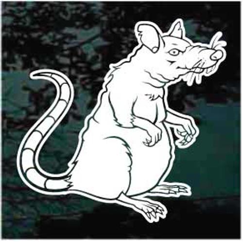 Old Rat Cartoon Decal