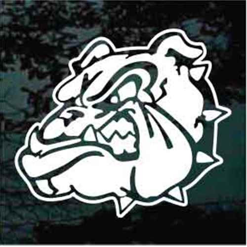 Growling Bulldog Head Window Decals