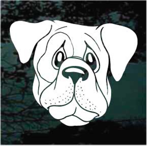 Funny Dog Face Window Decal