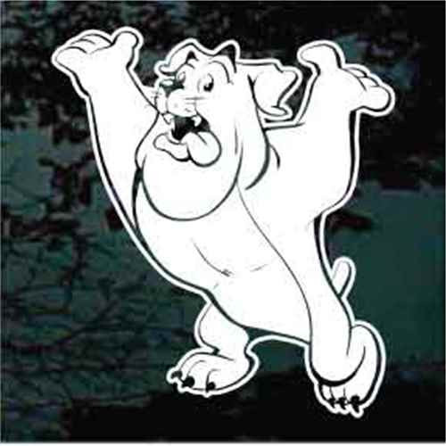 Funny Bulldog Standing Window Decals
