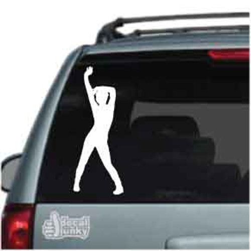 Arm Stretch Exercise Car Decal