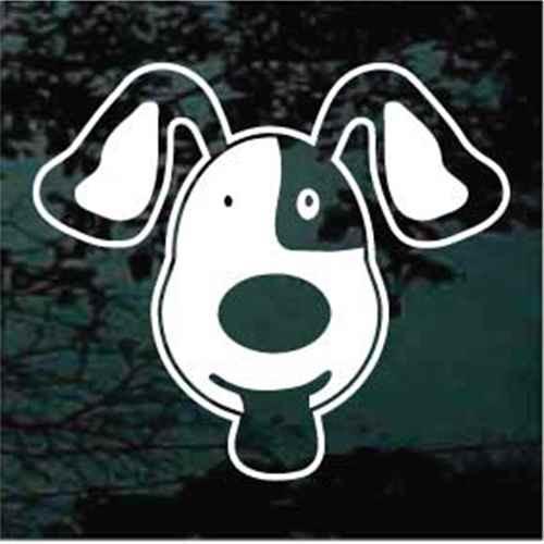 Pound Puppy Cartoon Window Decal