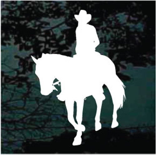 Cowboy On Horseback Silhouette Decals