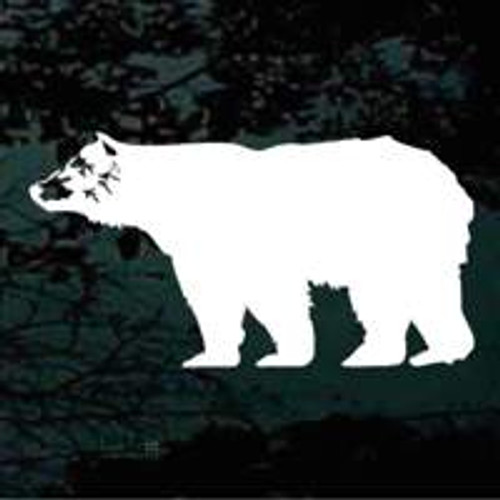 Bear Walking Silhouette Window Decals
