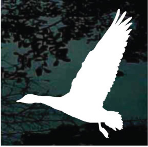 Goose Flying Silhouette