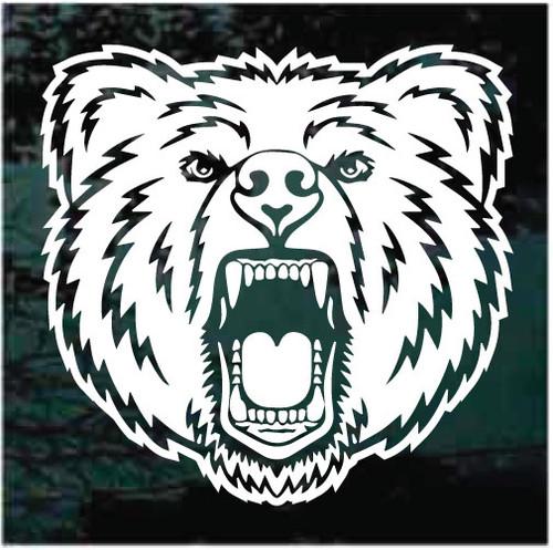 Angry Bear Head Window Decals