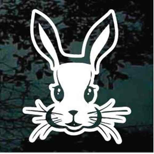 Cute Rabbit Face Window Decals
