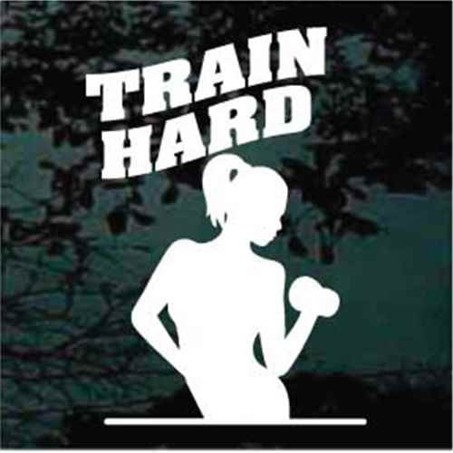Train Hard Decals
