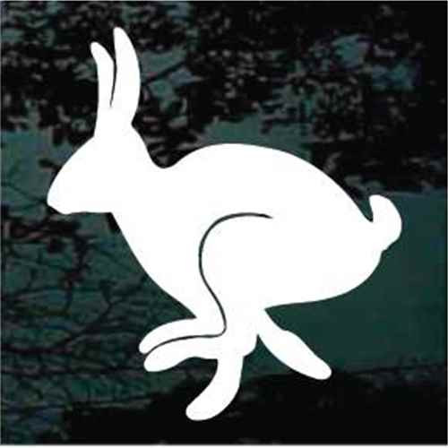 Rabbit Hopping Silhouette Window Decals