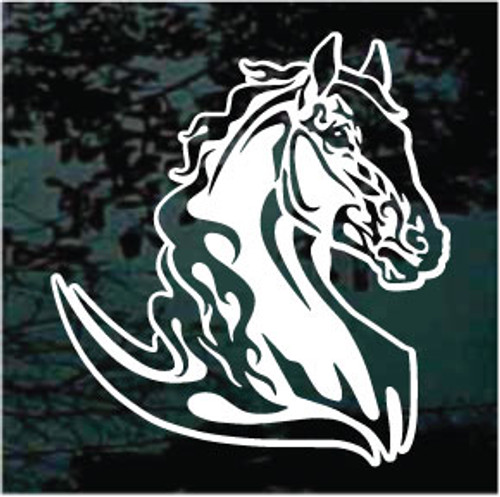 Beautiful Flaming Horse Head Decals