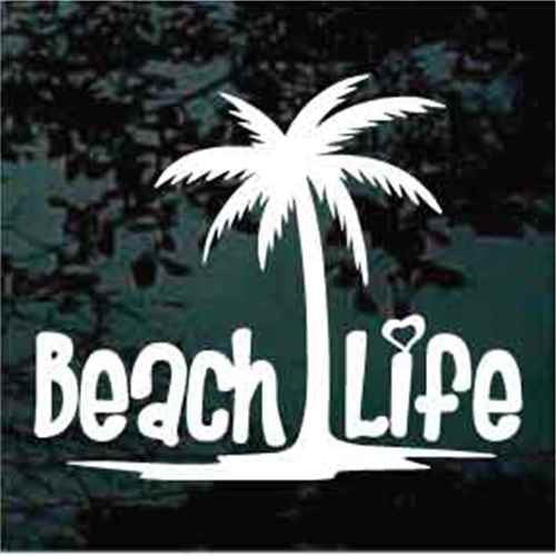 Beach Life Palm With Tree