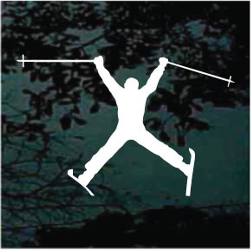 Spread Eagle Snow Skiing Window Decal