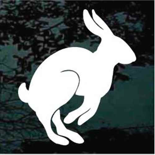 Solid Rabbit Hopping Window Decals