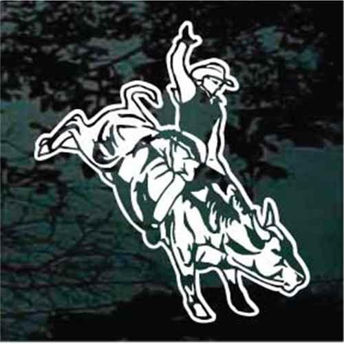 Professional Bull Rider Window Decals
