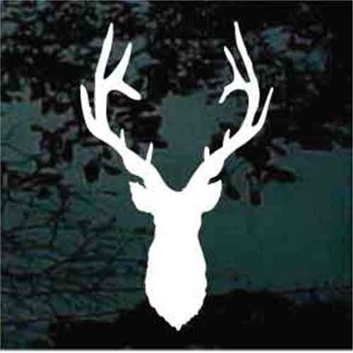 Mule Deer Head Silhouette Window Decals