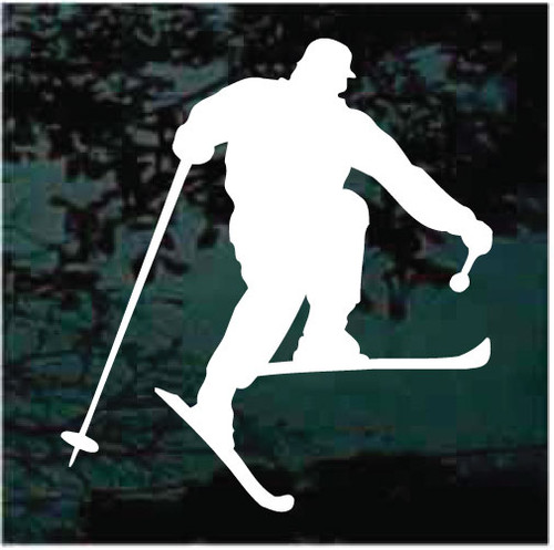 Man Snow Skiing Silhouette Decals