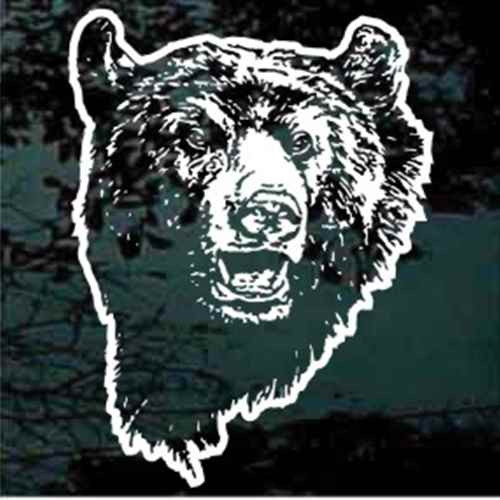 Grizzly Bear Face Window Decals