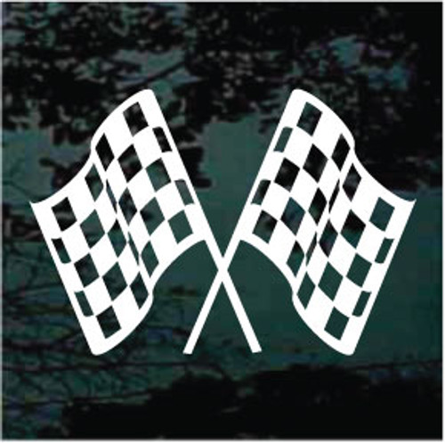Checkered Race Flags Window Decals