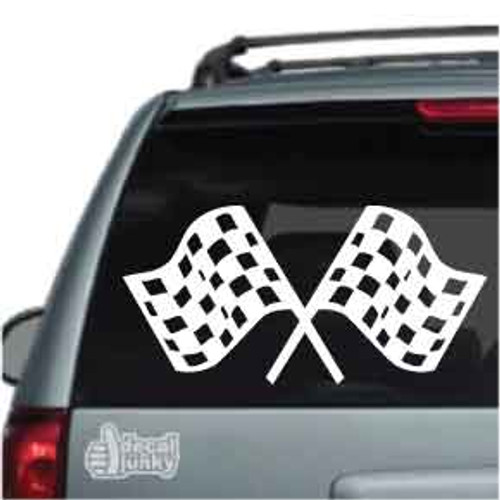 Checkered Race Flags Car Decals