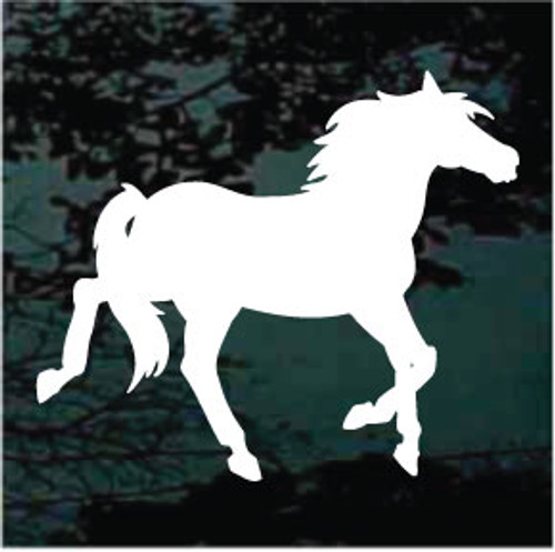 Trotting Horse Silhouette Window Decals
