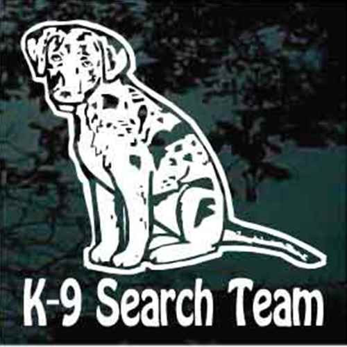 Catahoula Cur K-9 Search Team Window Decal