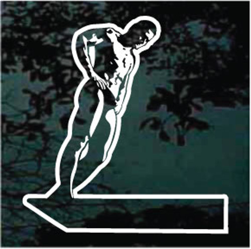 Diver On Diving Board Decals