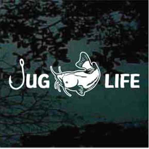 Catfish Fishing Jug Life Window Decals
