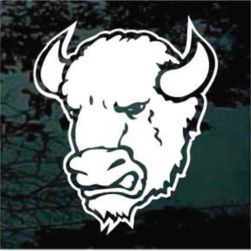 Buffalo Head Mascot Window Decal