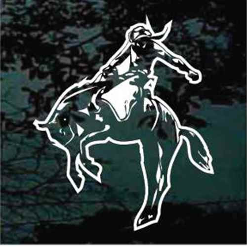 Bareback Bronco Rider Window Decals