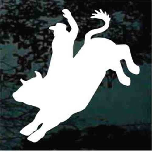 Rodeo Bull Rider Silhouette Window Decals
