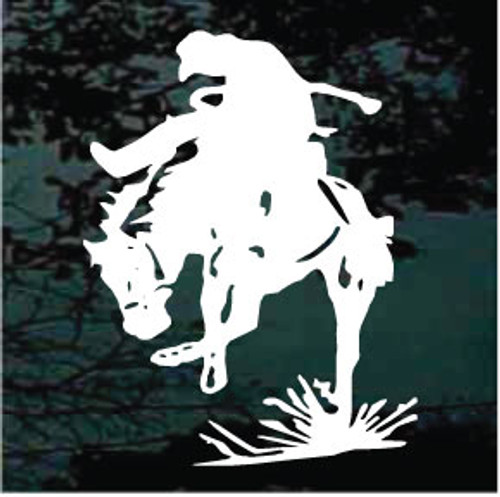 Bronco Rider Window Decals