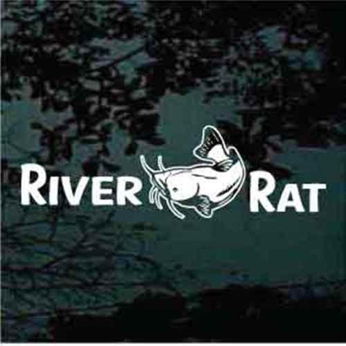 River Rat Catfish Window Decals