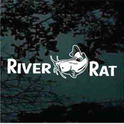 River Rat Catfish Window Decals