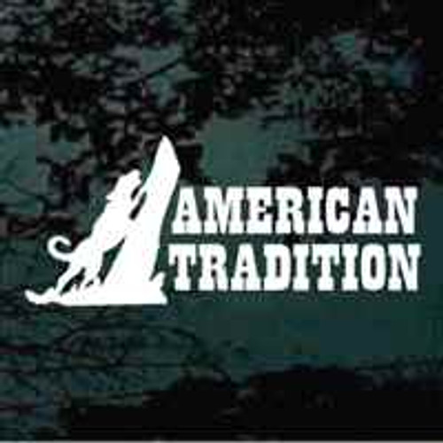Coon Hound Hunting American Tradition Window Decal