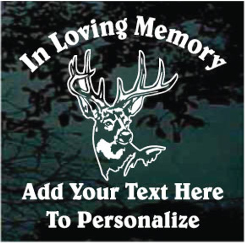 Detailed Big Buck Deer Head Memorial Decals