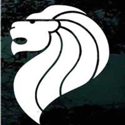 Heraldic Lion Head Window Decals