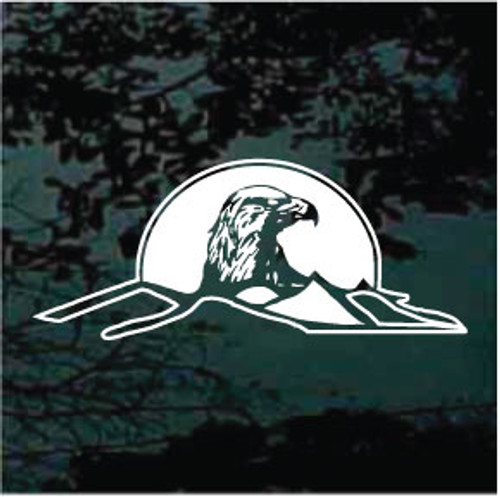 Eagle Head in Mountain Window Decals