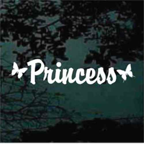 Princess Butterfly Window Decals