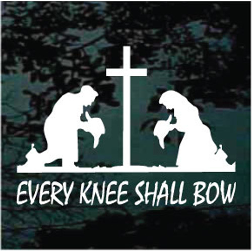 Cowboy Cowgirl Praying Cross Every Knee Shall Bow
