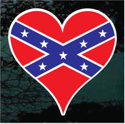 Confederate Flag Heart
