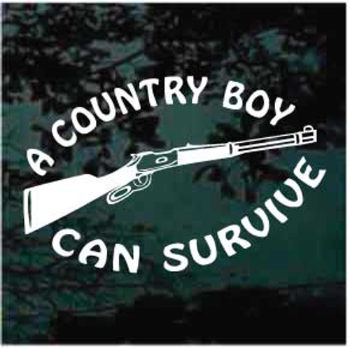 A Country Boy Can Survive Window Decals