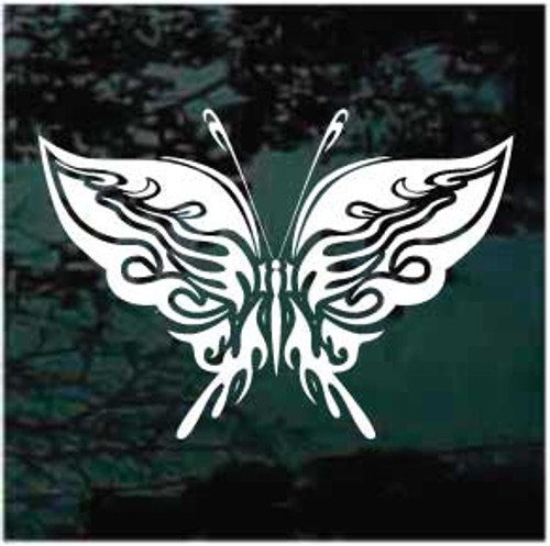 Embellished Tribal Butterfly Window Decal