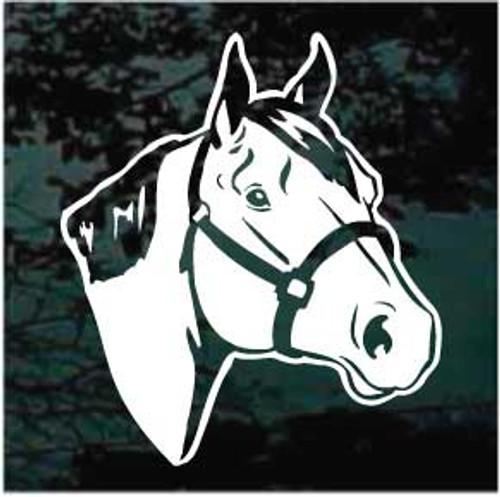 Quarter Horse Head Window Decals