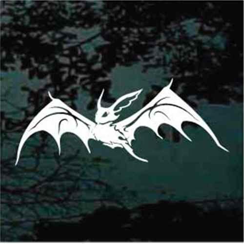 Tribal Bat Flying Window Decal