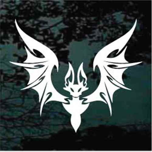 Large Winged Tribal Bat Window Decals