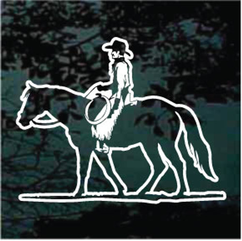 Cowboy Riding Quarter Horse